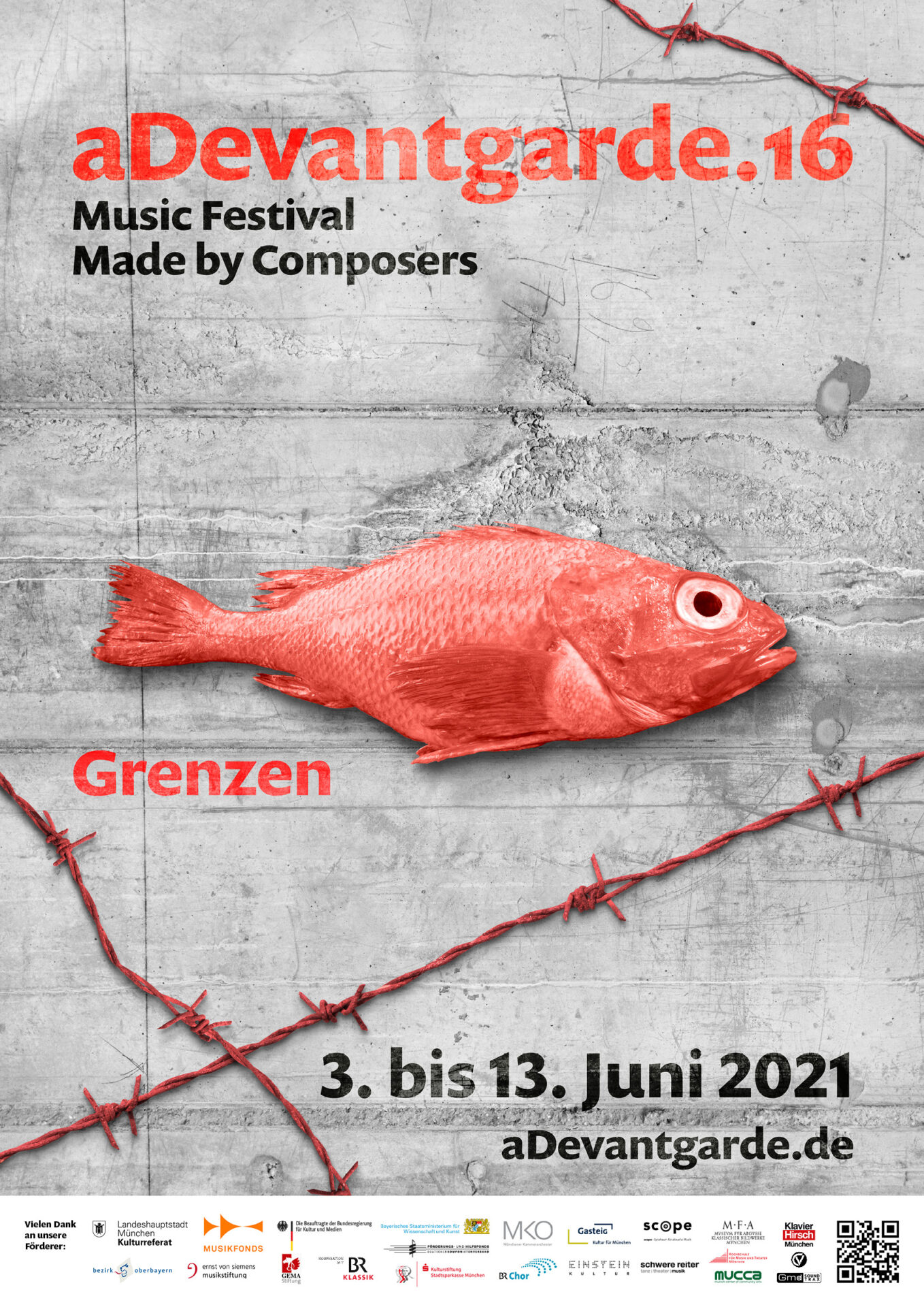 aDevantgarde.16 // Musikfestival Erscheinungsbild